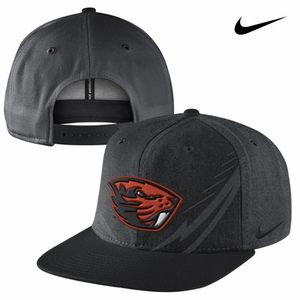 Oregon State Beavers Nike T25 Icon Flat Brim Snapback Cap - Black - Wear Black vs. SDSU #gobeavs #BoldInBlack