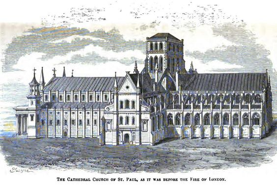 St Paul's Cathedral as it was before the Great Fire of London 1666