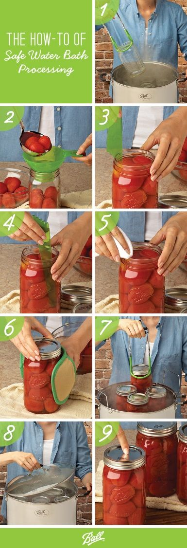 Following these basic steps will help make the home canning process efficient and easy to complete.