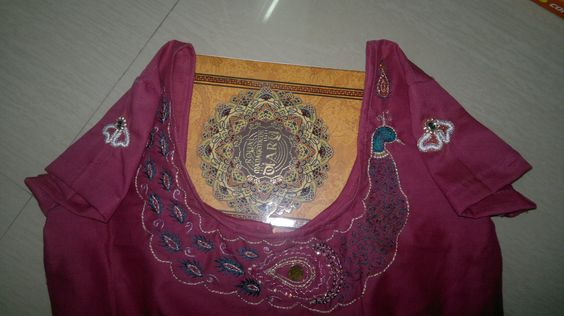 this is my first aari work on blouse :)