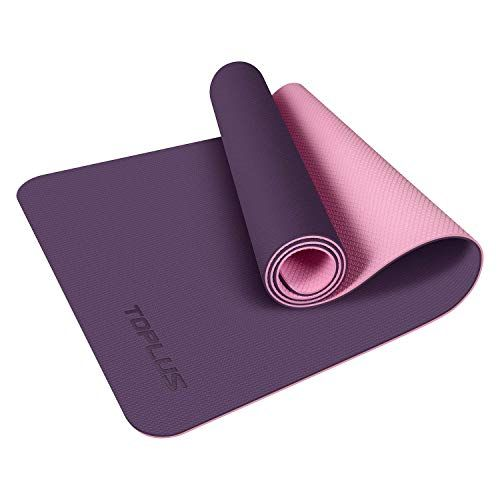 Toplus Yoga Mat Upgraded Yoga Mat Eco Friendly Non Slip Exercise Fitness Mat With Carrying Strap Workout Mat For All Yoga Mats Best Mat Exercises Yoga Mat