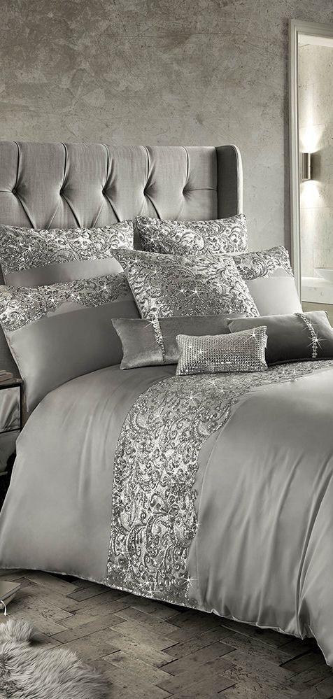 Luxury Bedding Sets, Blush Pink Glitter Bedding