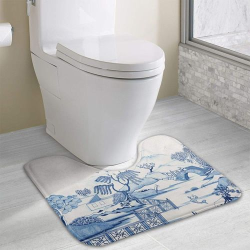 Blue Willow Memory Foam Contour Toilet Mats With Images Toilet