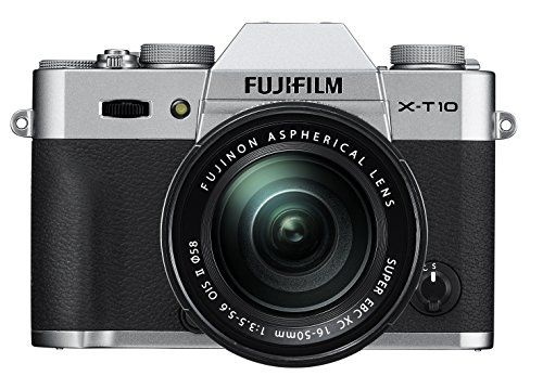 Fujifilm X-T10 Silver Mirrorless Digital Camera Kit with XC 16-50mm F3.5-5.6 OIS II Lens