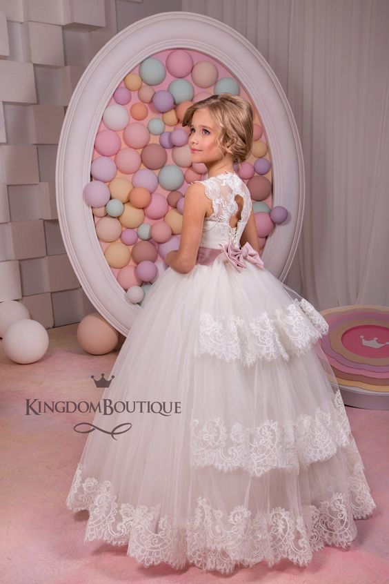 Ivory Flower Girl Dress - Bridesmaid Birthday Wedding Party Holiday Ivory Lace Tulle Flower Girl Dress by KingdomBoutiqueUA on Etsy https://www.etsy.com/listing/255254785/ivory-flower-girl-dress-bridesmaid