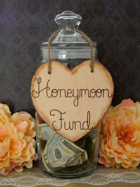 Wooden Heart Sign Wood Burned Engraved Rustic Sign Honeymoon Fund Sparklers Cards Bubbles Custom on Etsy, $6.00