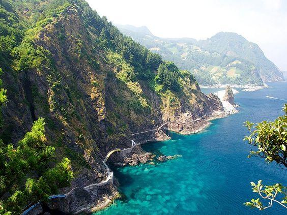 Một góc biển - rừng của đảo Ulleung-do