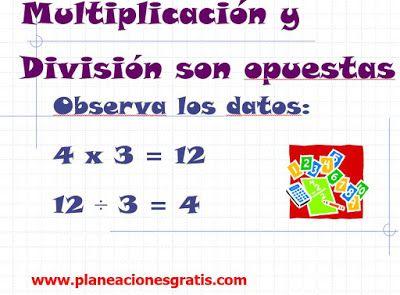 Multiplicación y División - Reglas de Ayuda | Planeaciones Gratis