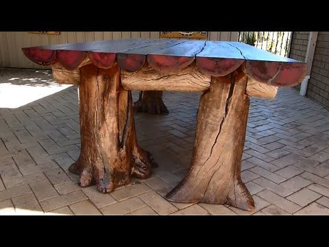 rustic outdoor table woodworking with