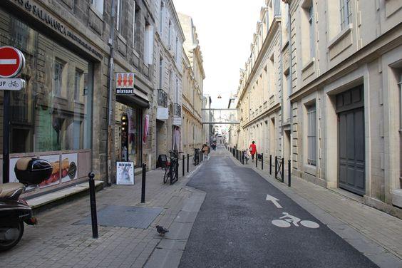 Еще вид каменных улиц центра Бордо