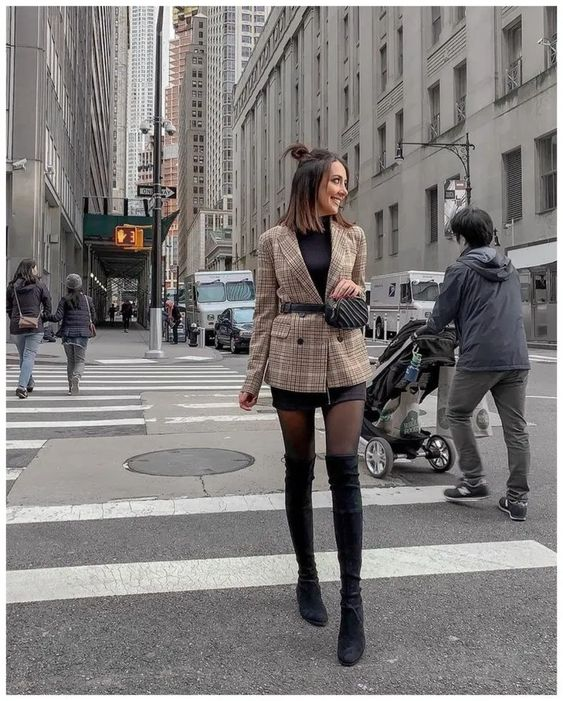 60+ Stylish Fall Women Outfits with High Knee Boots to Copy Right Now » GALA Fashion