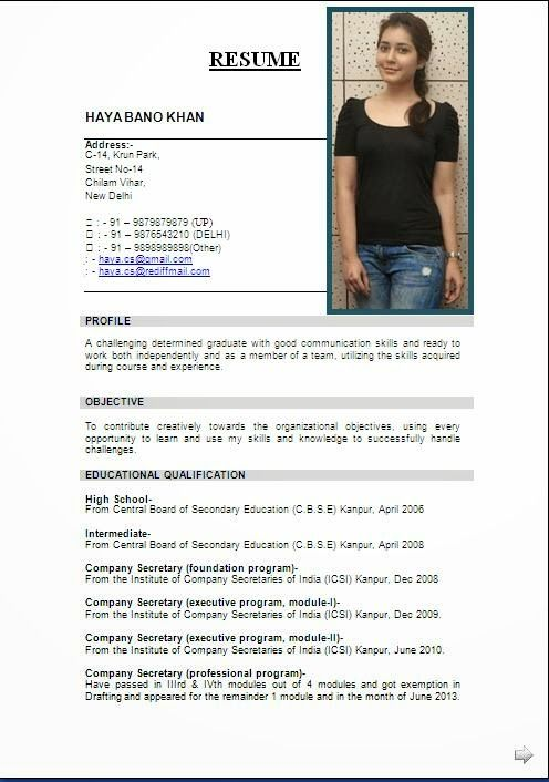 best cv layout Sample Template Example ofExcellent Curriculum - sample resume for secretary