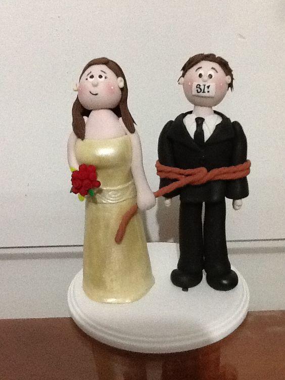 Topper para pastel de boda