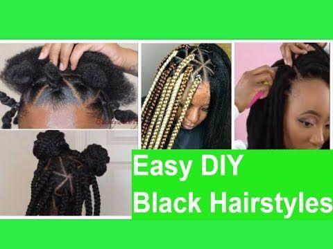 Easy Diy Black Hairstyles Youtube Diy Hairstyles