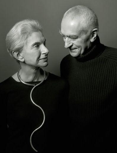 Heroes dress in black. Leila & Massimo Vignelli