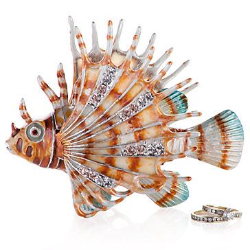 Jeweled Lion Fish Trinket Box  #ZGallerie #Gifts