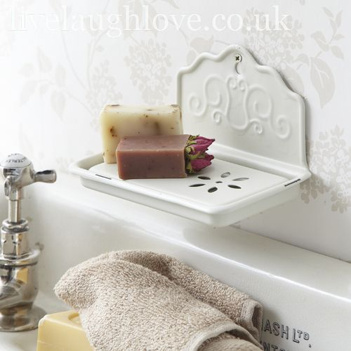 Shabby Chic Kitchen Accessories Uk: Enamel Soap Dish Country Kitchen Shabby Chic Bathroom
