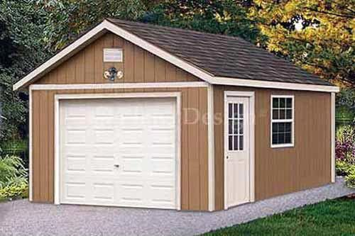 12 X 16 Garage Shed Workshop Building Project Blueprints Design 51216 Building A Shed Shed Plans Shed