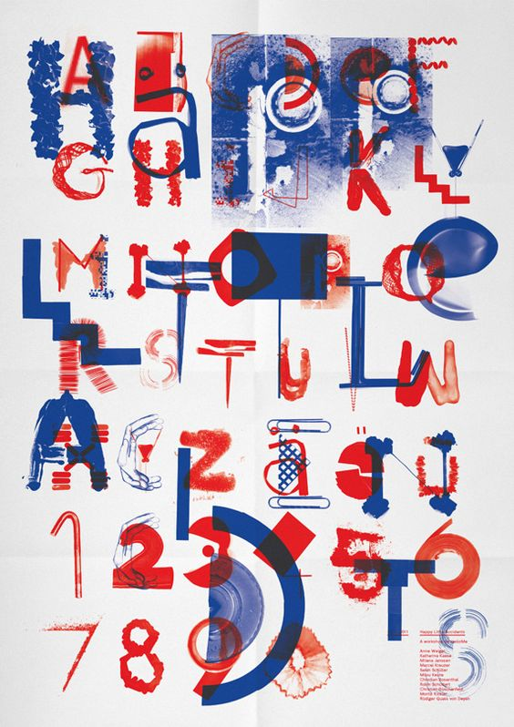 On the 25th of November Till gave a one day workshop on experimental typedesign entitled »Happy Little Accidents« at FH Münster.