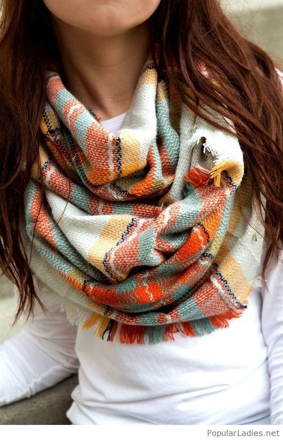 Amazing plaid infinity scarf
