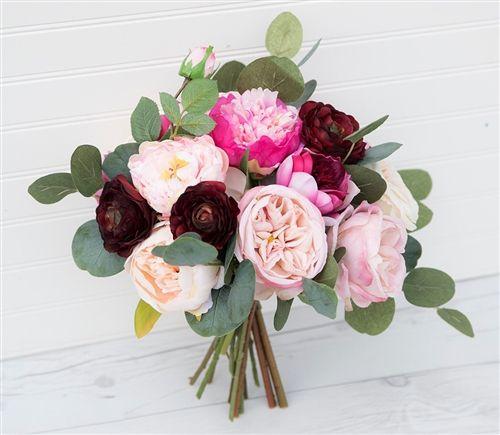 Boho Lush Bouquet Peonies Garden Roses Ranunculus Mix