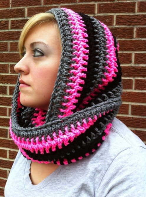 Free Knit Scoodie Pattern : Scoodie Infinity scarfs, Hooded scarf pattern and Crochet