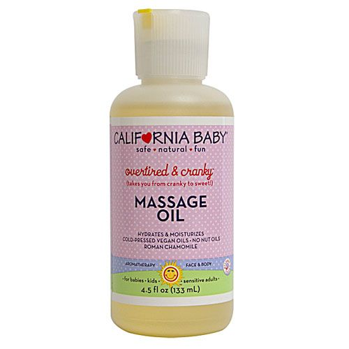 California Baby Overtired And Cranky Massage Oil Massage Oil California Baby Baby Massage