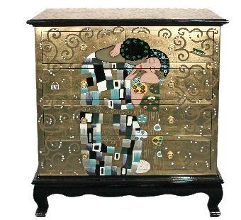 gustav klimt kommode der kuss gustav klimt casa collection pinterest gustav klimt und klimt. Black Bedroom Furniture Sets. Home Design Ideas