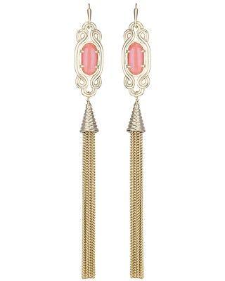 Erin Long Earrings in Iridescent Tangerine - Kendra Scott Jewelry. Coming soon!