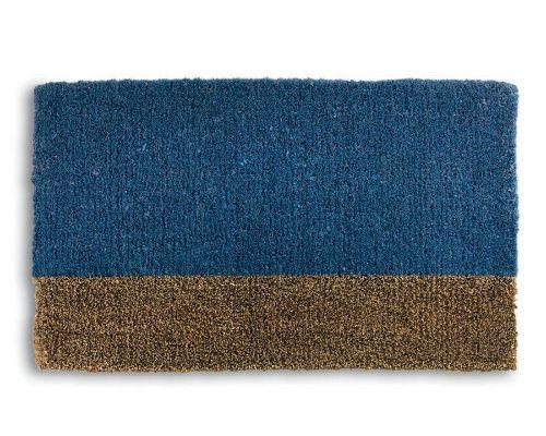 Two Tone Blue Coir Mat -Tag