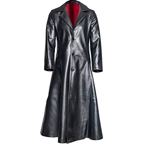 Conquror Manteau Long Gothique en Cuir de la Mode des Hommes