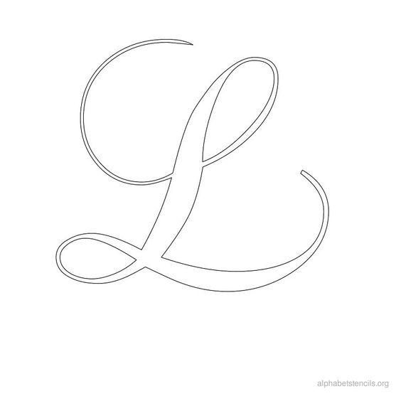 Alphabet Stencils Calligraphy L