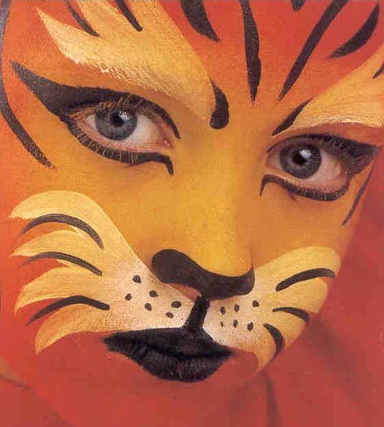 Pintar cara de tigre buscar con google ideas molonas - Pintura cara halloween ...