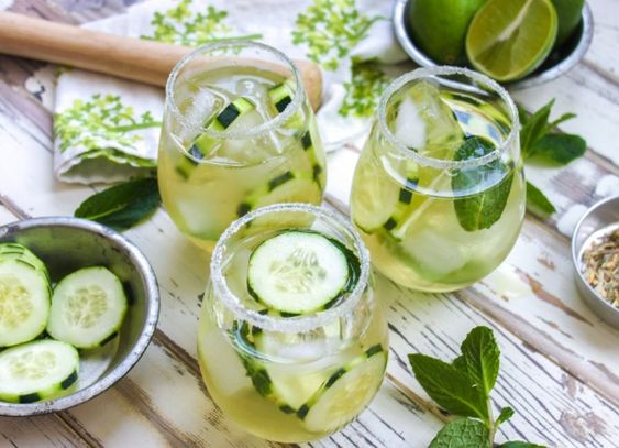 Cucumber & Green Tea Mojito, Perfect for St. Patrick's Day!