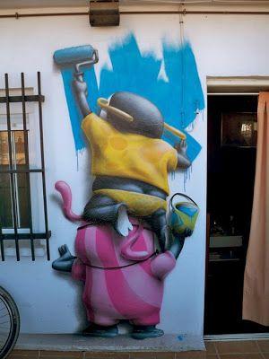 ღღ Monkeys, Roller, Urban, Street Art,: