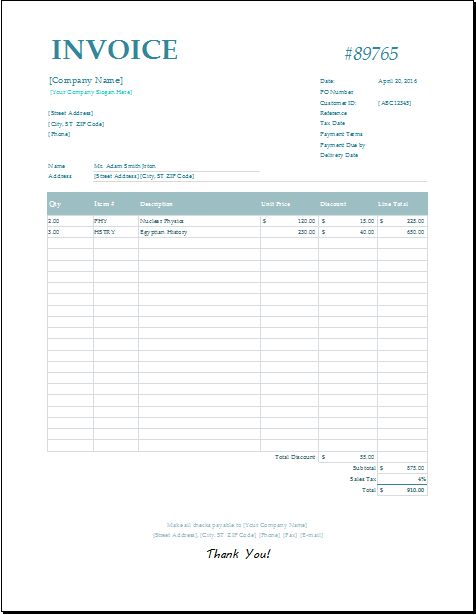 Monthly Billing Invoice Statement Download At HttpWww
