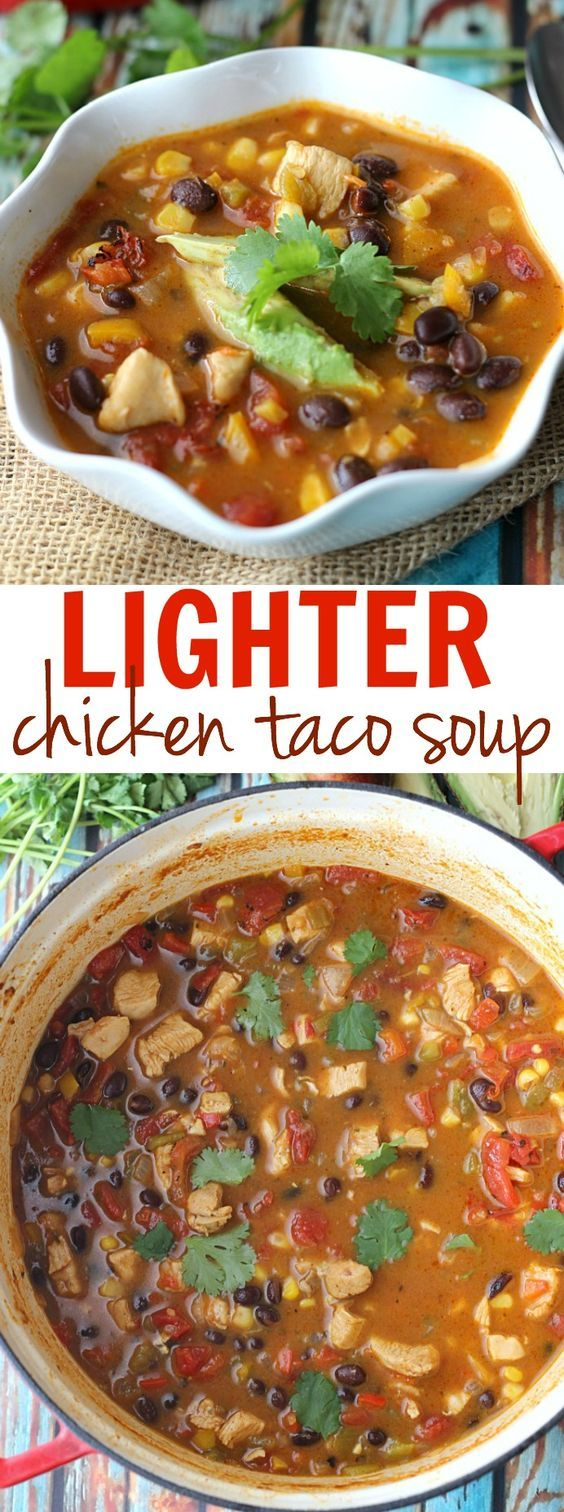 Chicken taco soup, Taco soup and Chicken tacos on Pinterest