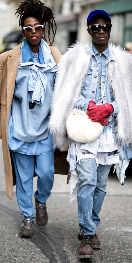 Paris Fashion Week street style: denim layers: