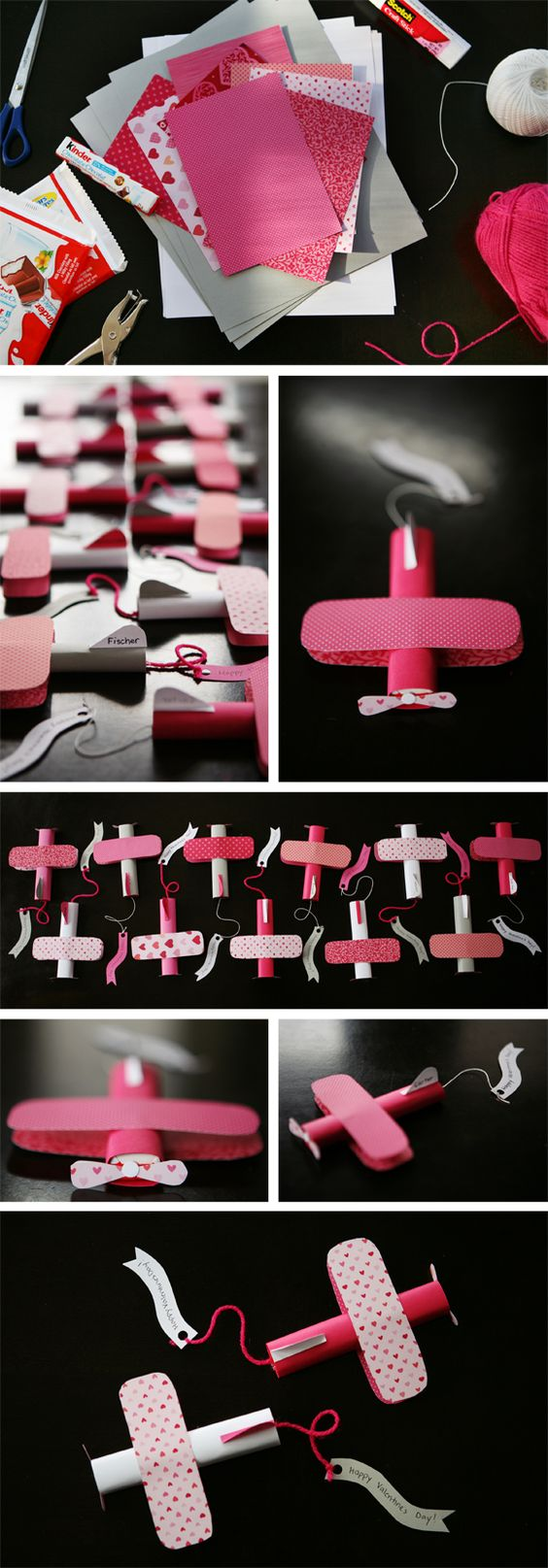 Kinder Chocolate Bar Airplane Valentines