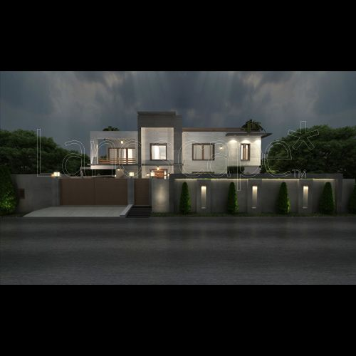 Park Boundary Wall Design : Boundary wall lighting house design