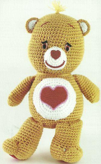 The Vintage Toy Chest: Crochet Patterns:  Teddy Bear, Free Pattern, Carebears Awww, Carebears Boo, Crochet Toys Patterns, Crochet Carebears