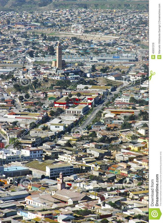 View of the mosque and the city of Coquimbo