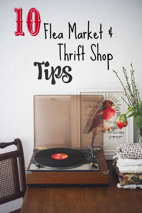 Flea market season: Tips for Thrift Shopping