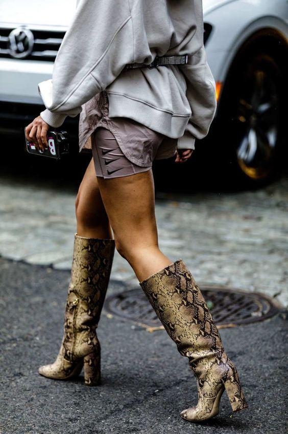 botte femme talon haut & épais pour automne-hiver