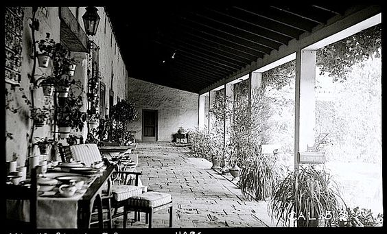 The Sunday porch:enclos*ure- Casa de la Guerra, Calf., 1936, via Library of Congress: