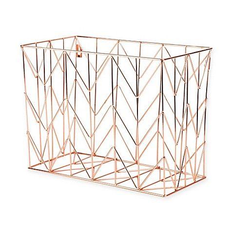 Copper Wire Hanging File Basket Hanging Files Desk Organization Desk File Organizer