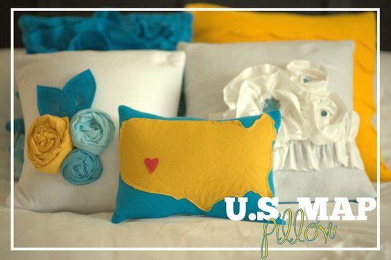 US Map pillow winner..