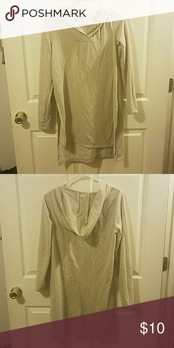 Tunic top with hood A high-low tunic top. Worn 3 times. The Limited Tops Tunics