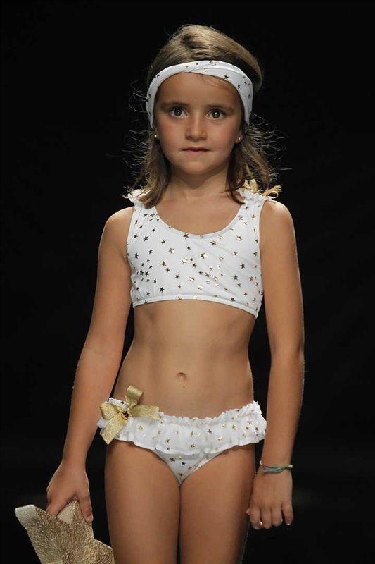 Le Bikini Estrellas Blanco Doradas Niña Petit Mariette María Para A35RjL4