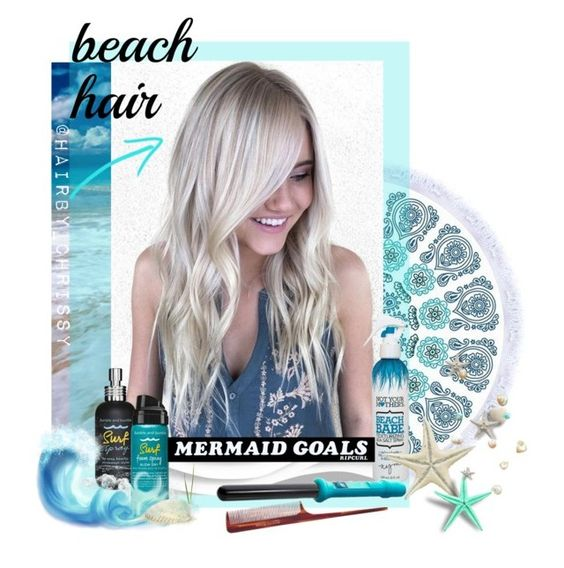 """Mermaid Goals"" by mkanzee ❤ liked on Polyvore featuring beauty, Not Your Mother's, Bumble and bumble, Mason Pearson, Rip Curl and beachhair"